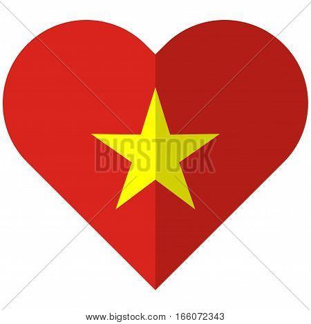 Vietnam Flat Heart Flag