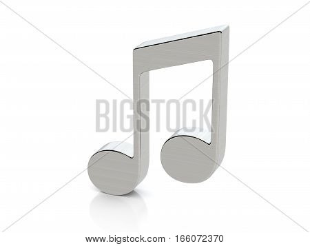 Metallic Music Note Symbol