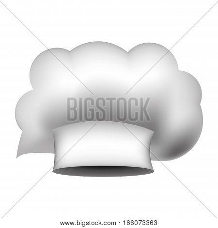 realistic silhouette of chefs hat irregular vector illustration