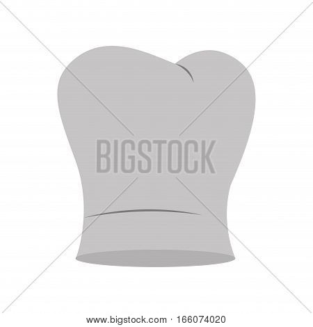 gray scale silhouette of chefs hat irregular vector illustration