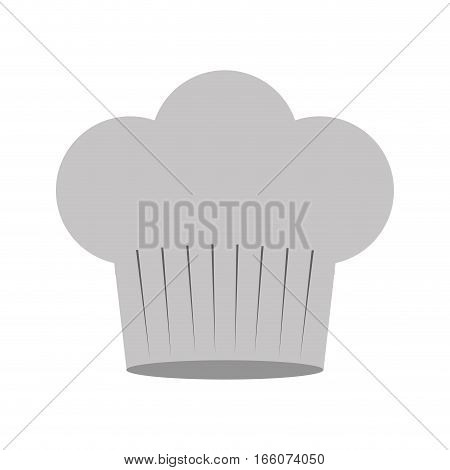 gray scale silhouette of chefs hat in cake shape vector illustration