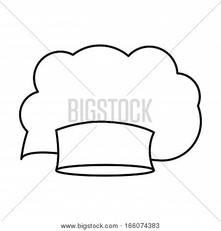 contour of chefs hat irregular vector illustration