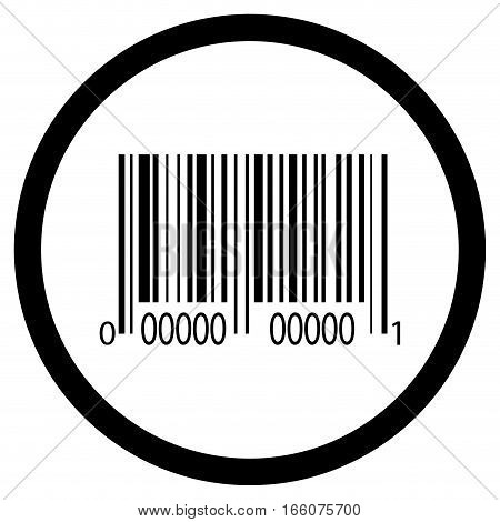 Bar code icon vector. Digital price label code for retail, graphic barcode illustration