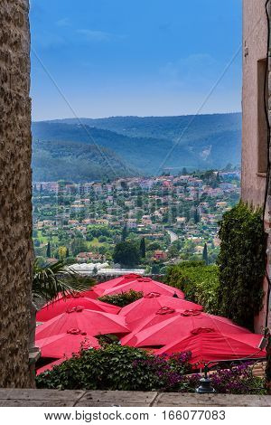View of the countryside in Saint-Paul-de-Vence France