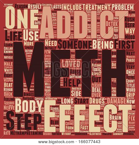 How Does Meth Get a Grip on Someone text background wordcloud concept