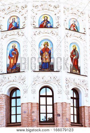 Part of church of Pechersk Lavra. Shrine of Ukraine.