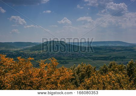 Summer landscape of the franconian suisse in germany.