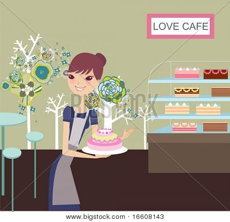 cute little bakery girl
