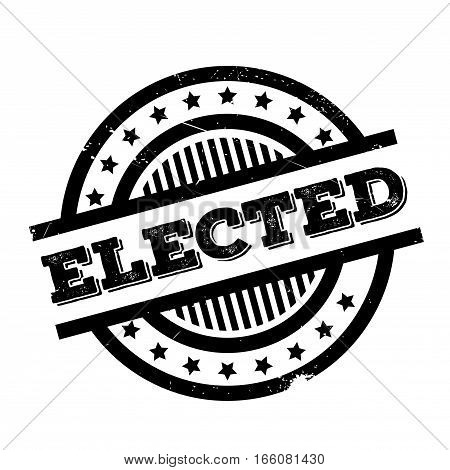 Elected rubber stamp. Grunge design with dust scratches. Effects can be easily removed for a clean, crisp look. Color is easily changed.