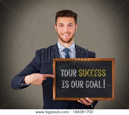 Your Success Is Our Goal on Chalkboard