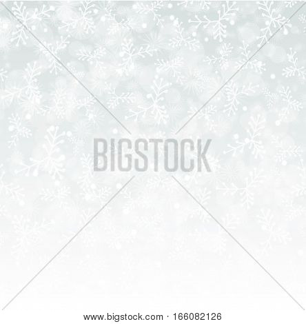 vector white winter snow illustration object on whitebackground. Web design, page sight, poster, banner, print, advertisement element