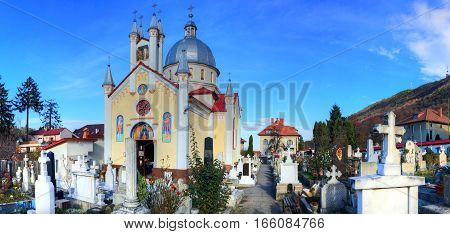 Famous Christian Orthodox church of the Saint Parascheva, in Brasov city Romania