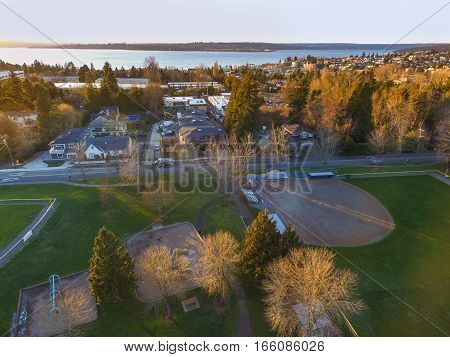 Aerial View Of Kirkland Residential Area.