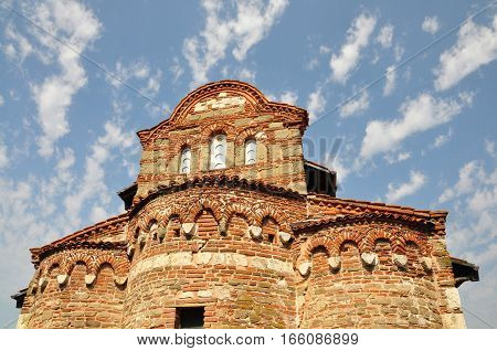 Bulgaria. Old Nessebar. Fragment of the church of St. Stephen. The 11th century.