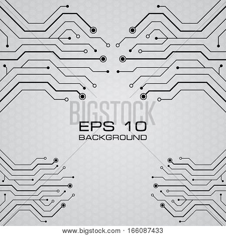 Printed circuit board vector gray eps background