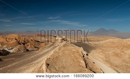 Dune landscape at the valley of the moon San Pedro de Atacama Chile