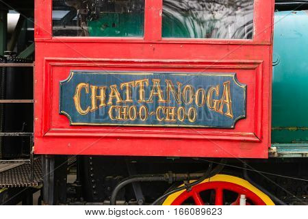 Chattanooga, TN, USA - April 10: The Chattanooga Choo-Choo train at the former Terminal Station in Chattanooga, Tennessee