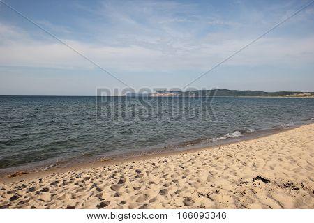 Beach of Sleeping Bear Dunes National Lakeshore, in Michigan