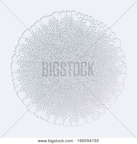 Abstract curly pattern on white background 3d rendering