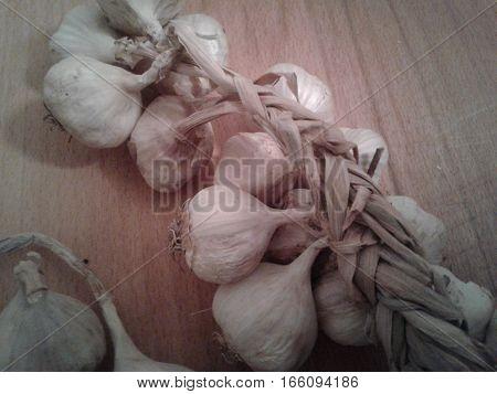 Garlic vegetable food garden perennial, onions, herb white Coupling