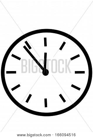 rounded watches showing time, on a white background