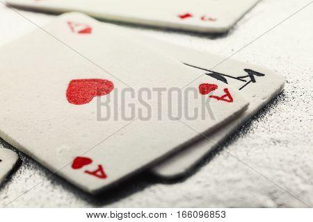 Gambling Cards Made Of Fondant