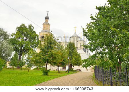 Saviour Priluki Monastery by cloud day near Vologda Russia.