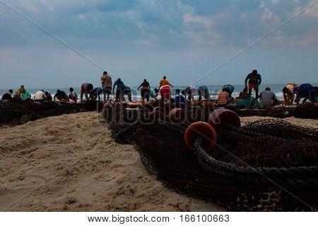 India Goa Fish fisher sein fishers chain