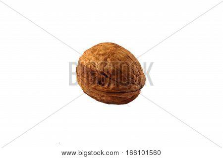 Walnut on a white background. Isolated Isolated