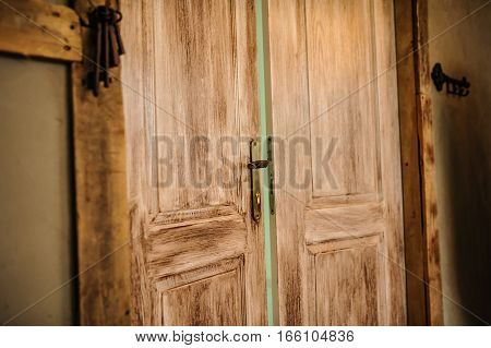 Wood Brown Door