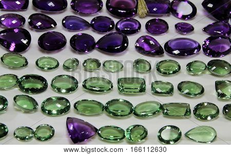 Many natural cut polished stones as a background