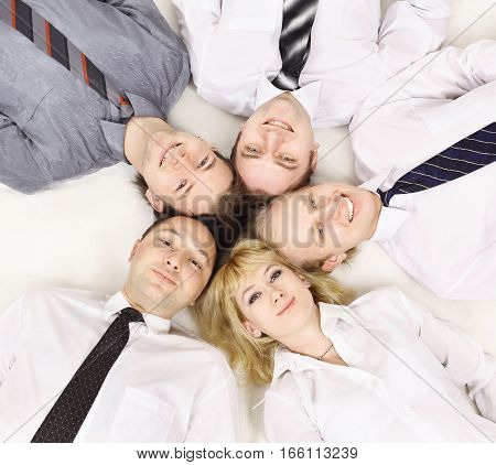 concept of trust in business team - business training team building