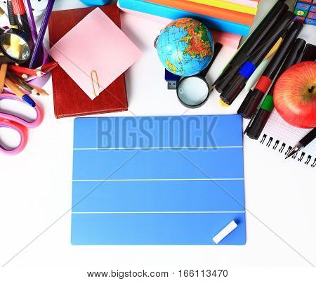 School stationery.  photo has a empty space for your text