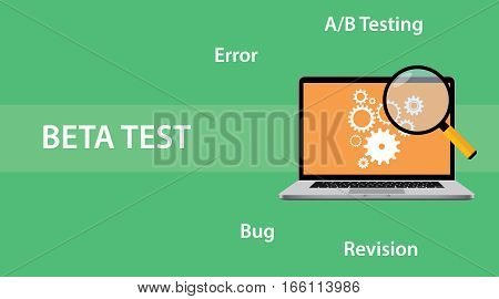 Beta testing concept for programming illustration vector