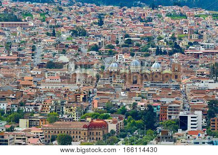 the city of Cuenca Ecuador seen from above