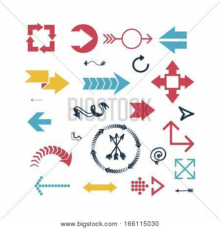 Arrow web icon vector illustration sign design orientation link. Download or play symbols. Next direction isolated previous button collection.