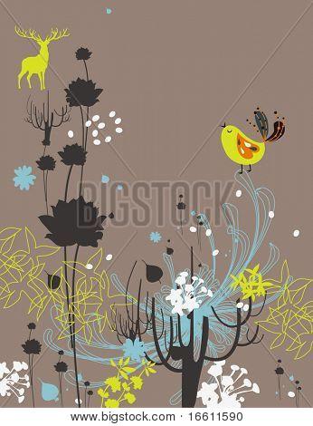 sweet garden bird poster
