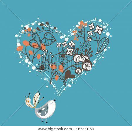 pájaro de jardín de amor