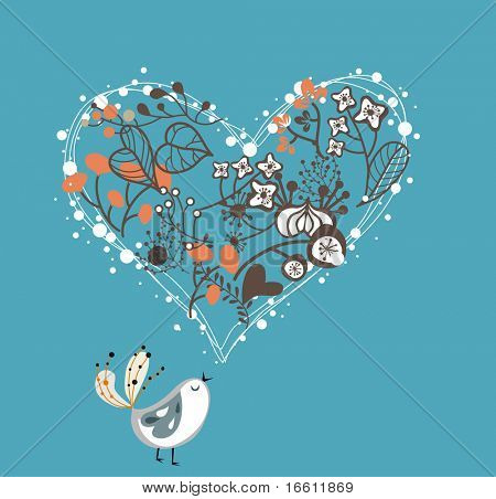 tuin liefde vogel
