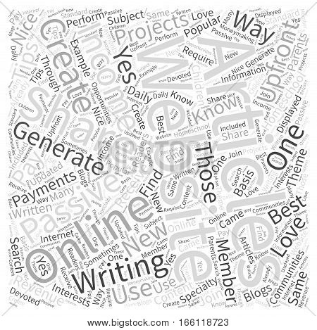 How to Generate Passive Income with Articles Word Cloud Concept
