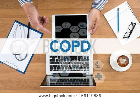 COPD Chronic obstructive pulmonary disease business, care, chronic, cold,