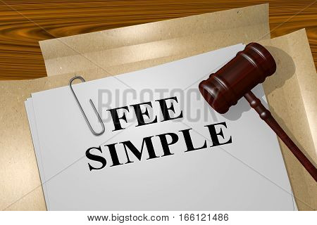 Fee Simple - Legal Concept