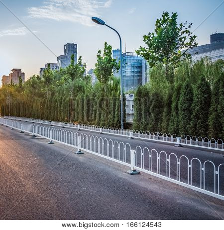 scene of shanghai downtown cityscape in China.
