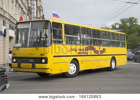 SAINT PETERSBURG, RUSSIA - MAY 24, 2015: The bus