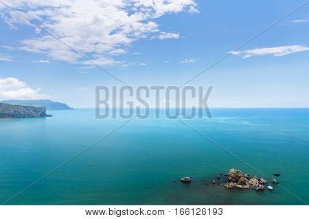 Crab Island sudak / photo an aerial view of Crimea