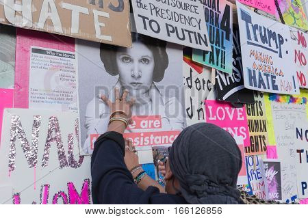 Activist Staples Protest Posters On The Wall