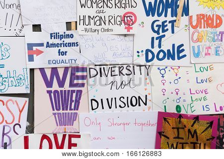 Wall Covered With Protest Posters