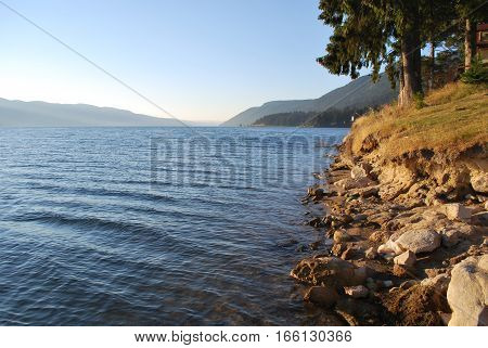 on the lake in the Rhodope Mountains