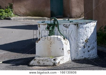 Old well in a small town. Photo taken in Ciudad Real, Spain