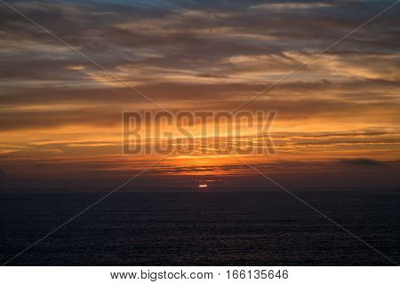 Portugal - Sunset And Atlantic Ocean